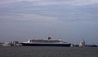 Lancement du Queen Mary 2 à Saint-Nazaire