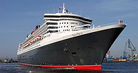 Le Queen Mary 2 en Allemagne.