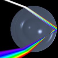 Réfraction et réflexion de la lumière dans une goutte d'eau