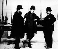 Les trois frères Renault: Marcel, Louis et Fernand.