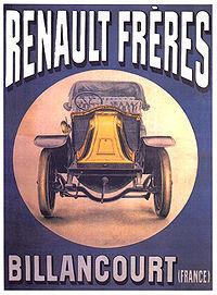 Publicité voitures Renault Frères