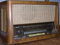 Récepteur radio de 1950