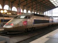 La rame TGV Sud-Est n° 101 en livrée Atlantique à Paris-Nord.