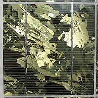 Une cellule photovolta�que polycristalline