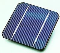 Une cellule photovoltaïque monocristalline