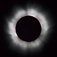 Photographie d'une éclipse solaire