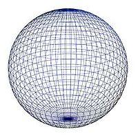 Une sphère dans un espace euclidien