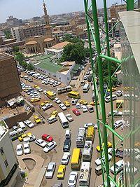 Circulation dans les rues de Khartoum