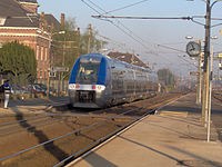 TER en gare de Hazebrouck.