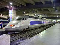 TGV en gare Montparnasse