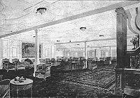La salle de réception de 1re classe sur le Pont D.