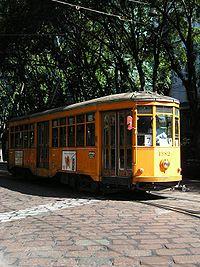 Tramway à Milan