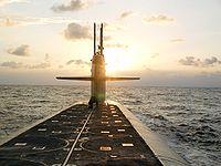 Le USS Wyoming, sous-marin lanceurs d'engins balistiques américain