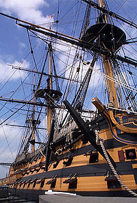 Le HMS Victory, le navire amiral de la Royal Navy à Trafalgar