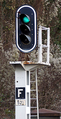 Signal indiquant Feu Vert (Voie Libre) en BAL