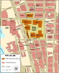 Plan du site du World Trade Center