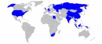 En bleu: pays dans lesquels le groupe BMW possède des sites de production dans le monde