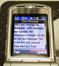 Affichage d'un message reçu sur un téléphone mobile Motorola