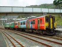 Rame diesel d'Arriva Trains Wales à  Blaenau Ffestiniog.