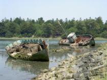 Cimetière de bateaux dans le Finistère