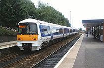 Rame classe 168 Clubman de  Chiltern Railways en gare de Kidderminster.