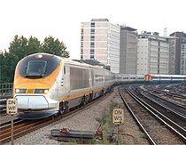 Rame Eurostar dans le sud-ouest de Londres.