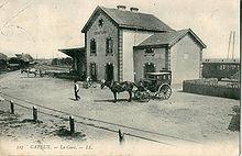 La gare de Cayeux du temps des Chemins de fer départementaux de la Somme.