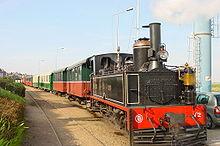 Un train du CFBS à Saint-Valery-sur-Somme (avril 2007)