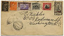Enveloppe postée aux États-Unis, en 1925.
