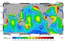 Carte des marées M2