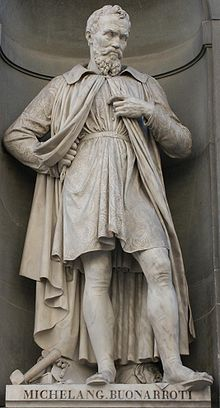 Statue de Michel-Ange à Florence