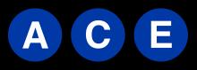 Les lignes A, C, E qui empruntent la section de ligne IND Eighth Avenue Line. Elles portent la même couleur.