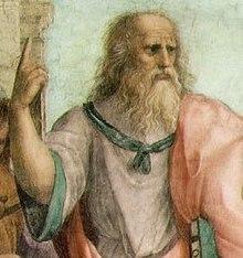détail de L'École d'Athènes, par Raphaël
