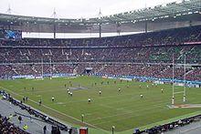 Match de rugby au Stade de France