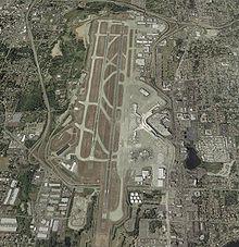 Photographie aérienne de l'aéroport international de Seattle-Tacoma