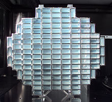 Le collecteur de particules de Stardust en aérogel.