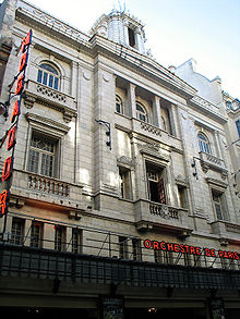 Photo de la façade du Théâtre Mogador