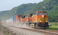Un train de la BNSF (Prairie du Chien, Wisconsin)