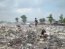 Mode de vie dans un bidonville de Jakarta.