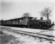 Train à vapeur en gare de La Marsa