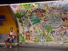 Décoration murale à la station Retiro (ligne 2)