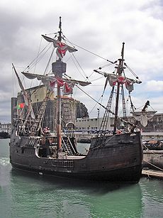 La caraque Santa Maria de Christophe Colomb.