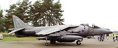 Un ADAV Harrier à pleine charge