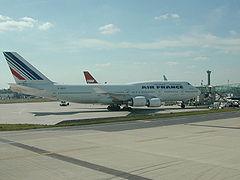 Un Boeing 747-400 Air France à CDG
