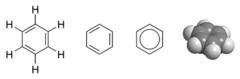 Structure et représentations du benzène