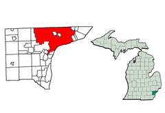 Localisation de Détroit