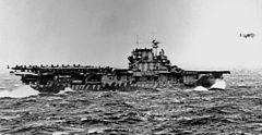 L'USS Hornet pendant le raid de Doolittle