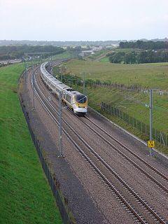 Une rame Eurostar sur CTRL, la ligne à grande vitesse anglaise