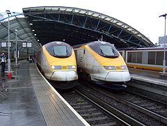 Rames Eurostar à Londres-Waterloo