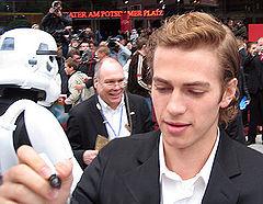 Hayden Christensen lors de l'avant-première de la Revanche des Sith à Berlin